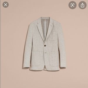 NWT Burberry Men's Cotton Blend Blazer